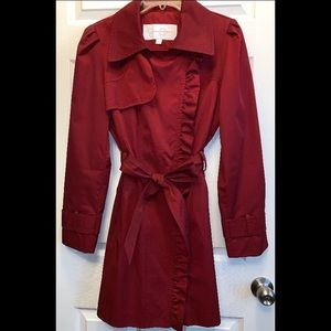 Jessica Simpson Ruffled Trench Coat - Size XL